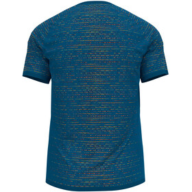 Odlo Blackcomb Ceramicool T-Shirt S/S Crew Neck Men mykonos blue space dye